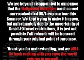 Hollywood Vampires a anulat tot turneul european, inclusiv concertul de la București