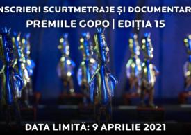 Premiile Gopo 2021: Au început înscrierile pentru categoriile de documentar și scurtmetraj