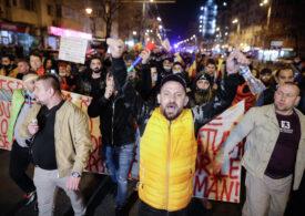 Protestele față de restricții continuă pentru a patra seară la rând (Galerie foto)