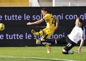 Mihăilă a marcat pentru Parma. Man a ieșit accidentat