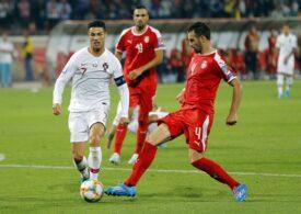 Cristiano Ronaldo, criticat în țara sa după ce a aruncat banderola de căpitan al Portugaliei