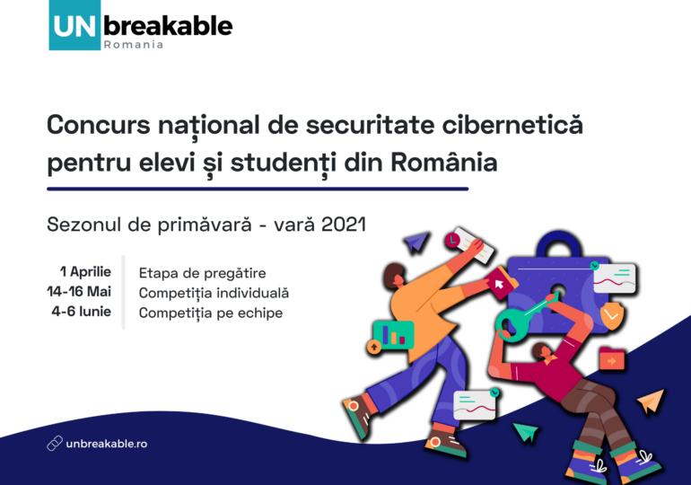 UNbreakable România anunță când și cum se desfășoară concursul de securitate cibernetică pentru elevi și studenți anul acesta