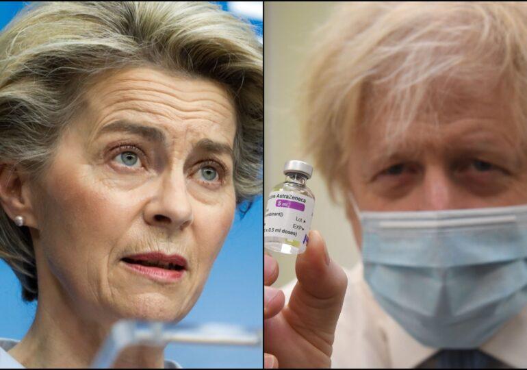Armistițiu în războiul vaccinului. Ursula von der Leyen, prima victorie în fața lui Boris Johnson