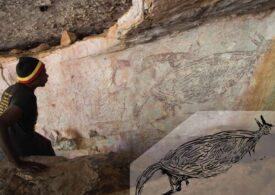 S-a descoperit cea mai veche pictură rupestră din Australia. Ghicești ce înfățișează?