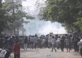 Noi acţiuni de reprimare în Myanmar: Cel puţin patru protestatari au fost împuşcaţi mortal