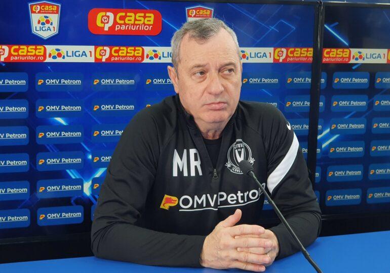 Mircea Rednic a fost demis din funcția de antrenor al celor de la Viitorul