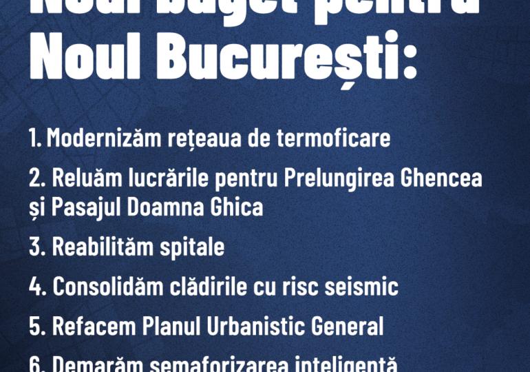 Bugetul Capitalei: Nicușor Dan arată principalele 10 proiecte și ce face diferit față de fosta administrație