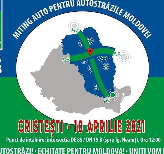 Protest cu sute de maşini pe drumurile din Moldova. Oamenii vor autostrăzi în regiune: Nu cerem favoruri, vrem să primim garanții