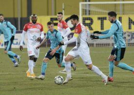 Liga 1: Chindia câștigă lejer primul meci de play-out cu Hermannstadt