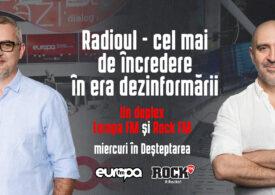 Despre puterea radioului, într-un duplex Europa FM și Rock FM, în Deșteptarea și Morning Glory