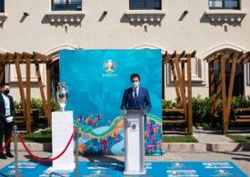 """Trofeul UEFA Euro 2020 a ajuns la Bucureşti: """"E o sărbătoare a fotbalului european"""""""