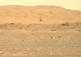 Elicopterul Ingenuity a zburat pentru a doua oară pe Marte, mai sus şi pentru mai mult timp (Video)