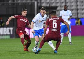 Liga 1: Universitatea Craiova o învinge pe CFR Cluj cu un gol marcat în minutul 88