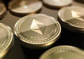 Criptomoneda ether atinge un nivel record, în timp ce Bitcoin e în scădere