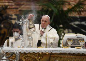 Papa Francisc oficiază slujba de Paști (Video)