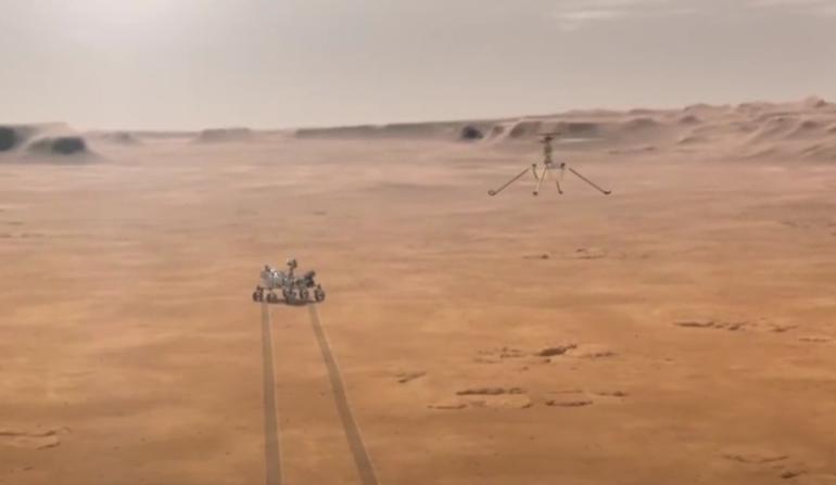 Reuşită istorică a NASA: Mini-elicopterul Ingenuity a zburat pe Marte (Video)