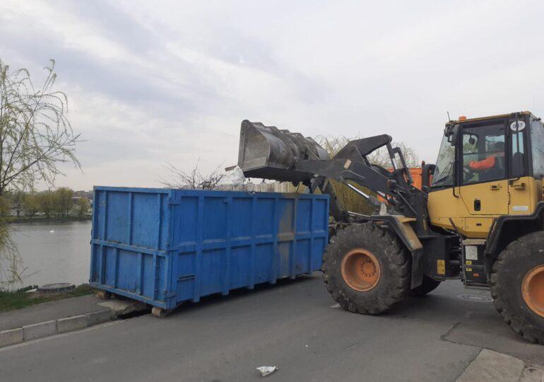 Radu Mihaiu: Lacul Fundeni e o bombă ecologică. În doar 5 zile, au fost scoase 343 de tone de deşeuri