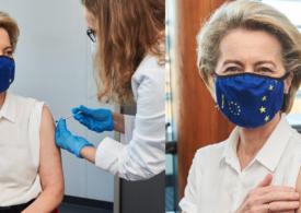 Ursula von der Leyen s-a vaccinat antiCovid, dar nu a spus și cu ce ser