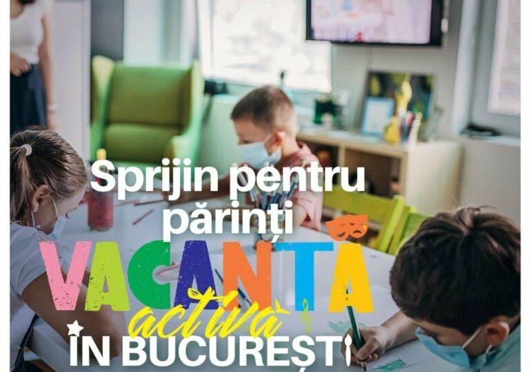 Câteva sute de copii au fost înscriși în programul Primăriei Capitalei menit să ajute părinții, pe timpul vacanței