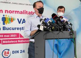 Cîțu a verificat cum merge Maratonul Vaccinării din Capitală și a rămas impresionat de organizare
