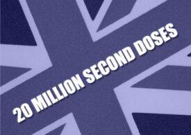 20 de milioane de britanici au fost imunizați cu ambele doze, anunță Boris Johnson