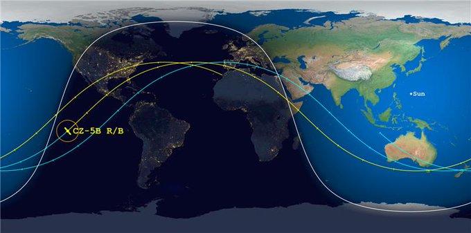 Racheta chinezească scăpată de sub control s-a prăbușit în Oceanul Indian