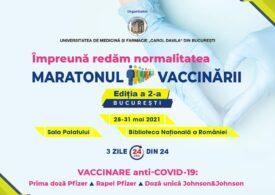 Începe al doilea Maraton al Vaccinării de la Bucureşti. Noutatea e imunizarea cu  Johnson&Johnson, în doză unică