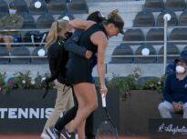 Reacția lui Angelique Kerber după accidentarea gravă suferită de Simona Halep la Roma