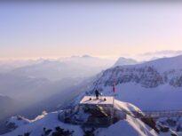 Recital inedit de muzică tehno în vârful unui masiv din Alpii elvețieni (Video)