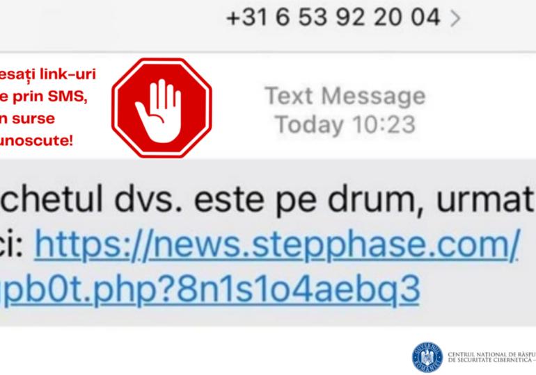 """Aveți telefoane cu Android şi iOS? CERT-RO şi SRI au descoperit o campanie de phishing cu mesaje de la """"curieri"""""""