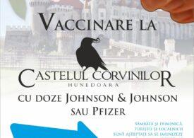 După Bran, ne putem vaccina și la Castelul Corvinilor