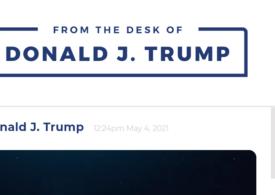 """Încă blocat pe Twitter și Facebook, Trump și-a lansat propria platformă de """"comunicare"""""""