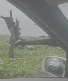 Un elicopter militar american a aterizat forţat pe un câmp Constanţa (Video)