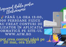 """61.000 de persoane s-au înscris în programul """"Rabla pentru electrocasnice"""" în doar șapte ore"""