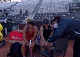 Simona Halep s-a accidentat și a abandonat în meciul cu Angelique Kerber de la Roma