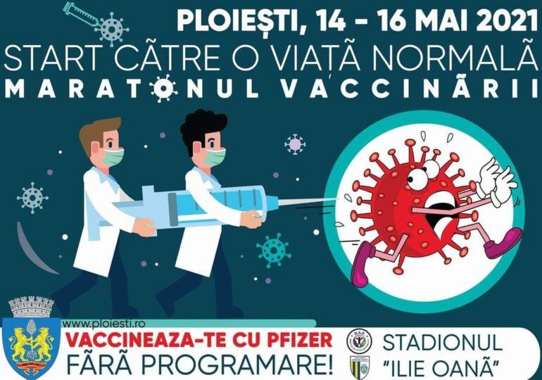 Vineri începe și Maratonul Vaccinării la Ploiești