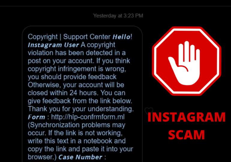 Alertă de fraudă pe Instagram: Utilizatorii sunt amenințați cu închiderea contului