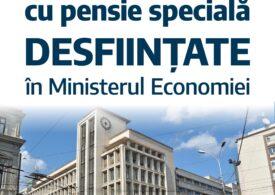 Ministrul Economiei a desfiinţat 40 de posturi cu salarii de mii de euro şi pensie specială