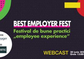 Best Employer Fest, festival de bune practici axat pe employee experience, are loc pe 30 iunie