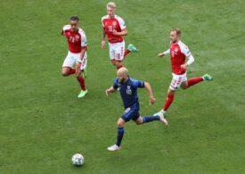 Momente dramatice la Copenhaga la EURO 2020. Christian Eriksen a fost  resuscitat pe gazon, iar acum a fost stabilizat. Mijlocașul danez poate vorbi și respiră singur