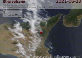 Vulcanul Etna a erupt din nou și a oferit un spectacol de lavă (Video)