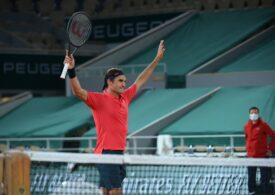 Roger Federer avansează cu greu în optimi la Roland Garros, după un meci de aproape patru ore