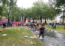Scoțienii au făcut ravagii pe străzile din Londra înaintea meciului de la EURO 2020: Au lăsat în spate munți de gunoaie