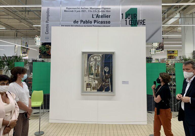 Un tablou de Picasso a fost expus într-un magazin Auchan