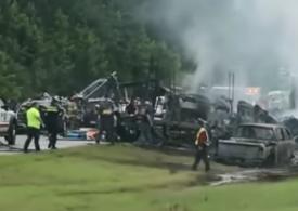 Accident în lanț în Alabama: Zece oameni, între care nouă copii, au murit (Video)