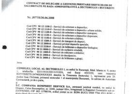 Războiul gunoaielor: Primăria Sectorului 1 a publicat contractul cu Romprest și toate actele adiționale - DOCUMENTE