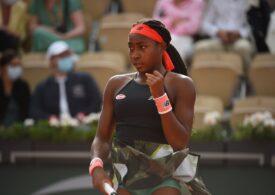 La doar 17 ani, Cori Gauff atinge sferturile de finală la Roland Garros