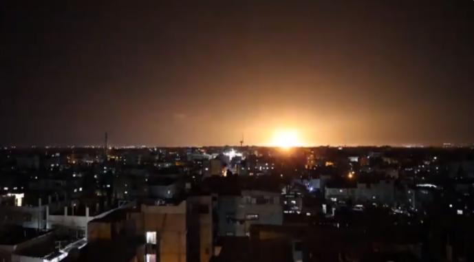 Israelul a lovit peste noapte Fâșia Gaza (Video)