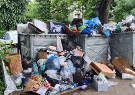 Romprest precizează că încă ridică gunoiul din Sectorul 1 al Capitalei. Localnicii însă văd mormane de deşeuri pe stradă