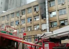 Incendiu la Spitalul de copii Sfânta Maria din Iași: 31 de persoane evacuate (Video)